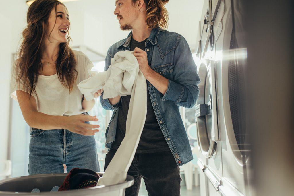 Símbolos da lavagem da roupa