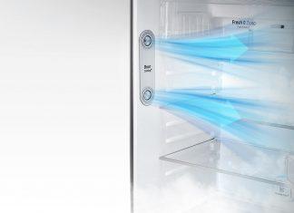 Interior de frigorífico LG com Door Cooling