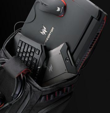 Conjunto de mochila e computador Acer