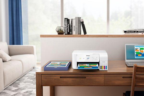 Impressora em sala de estar