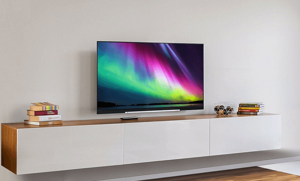 Televisor Toshiba na sala