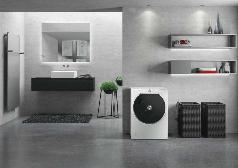 Máquina de lavar e secar roupa Hoover AWDPD496LHR