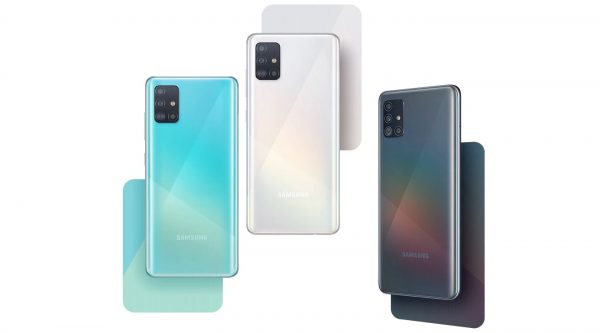 Algumas das cores do Samsung Galaxy A51
