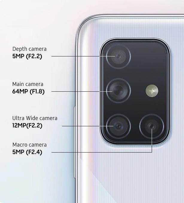 Câmaras do Samsung Galaxy A71
