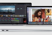 Apple Macbook Pro 13'' e 16'' / Em baixo: Macbook Air (perfil lateral)