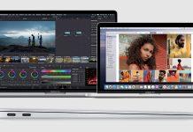 Apple Macbook Pro 13'' e 16'' / Em baixo: Macbook Air (perfil lateral)