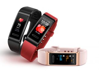 Pulseiras fitness Huawei Band 4 Pro Pink