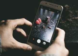 Fotografia com smartphone telemóvel