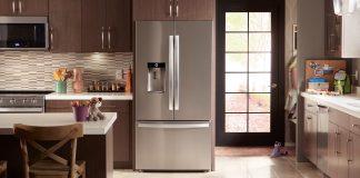 Cozinha com frigorífico Whirlpool