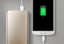 Smartphone Samsung a carregar a bateria