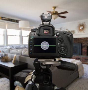 Máquina de fotografar em casa