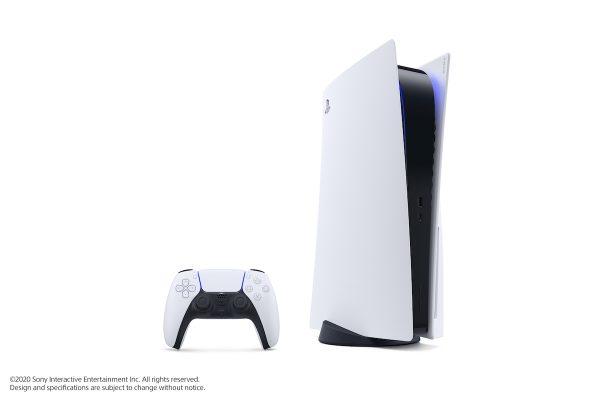 PlayStation 5 versão standard e comando DualSense