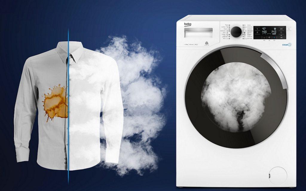 Tecnologia SteamCure: remoção de manchas fácil e eficaz