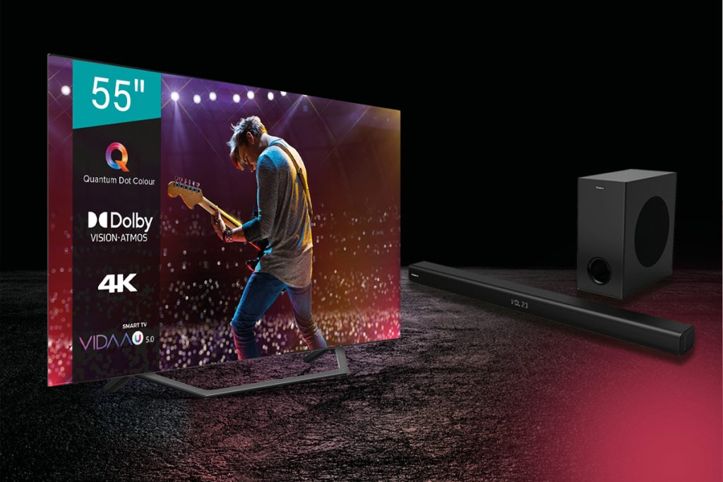 Hisense oferece soundbar HS218 na compra da TV A7GQ - até 15 de agosto!